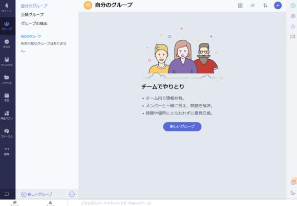 zohoコネクトグループ画面